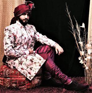digital print sherwani for groom